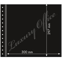 Sheet with 2 big pockets, 3 layers, black middle layer, pack of 10