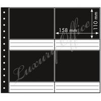 Sheet with 8 photo pockets, 3 layers, black middle layer, pack of 10