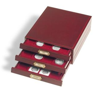 Coin box LIGNUM, 35 round compartments, up to Ø 32,5 mm