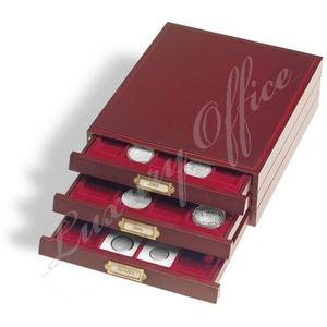 Coin box LIGNUM, 54 round compartments