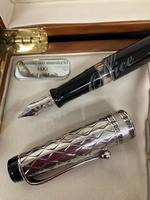 RIFLESSI Optima FP,st.silver cap & black barrel,18kt nib